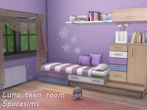 Luna teen room by spacesims