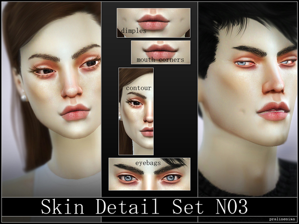 Skin Detail Set N03 by Pralinesims