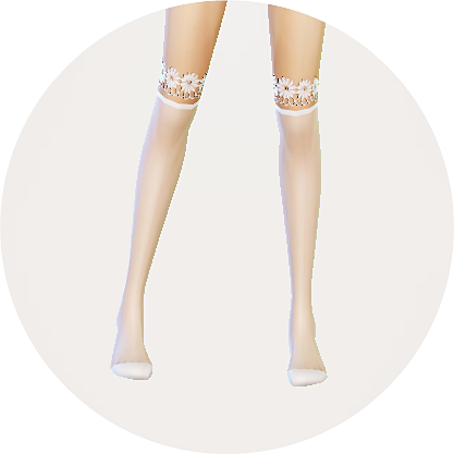 Marigold over knee socks collection_transparent version_unisex