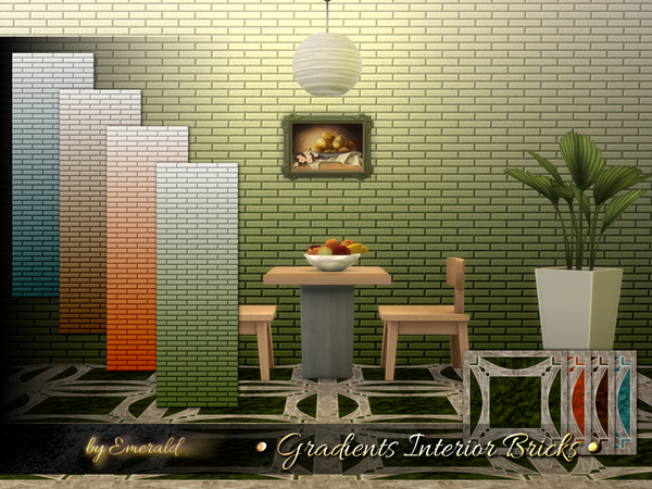 Gradients Interior Bricks by emerald