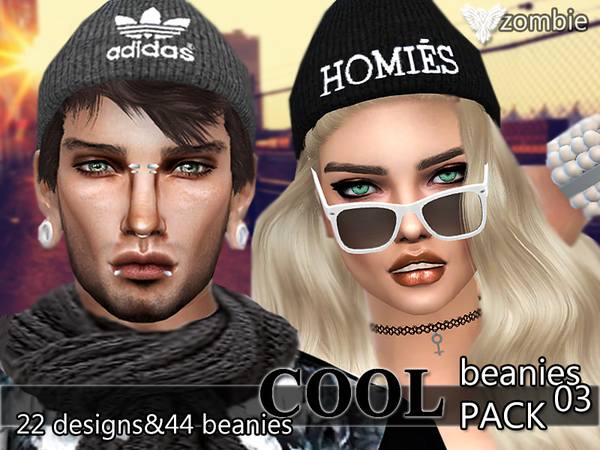 PZC_Cool Beanies Pack 03 by Pinkzombiecupcakes