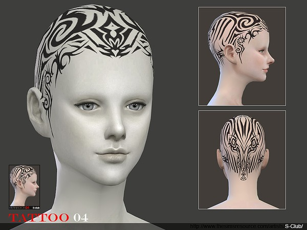 S-Club ts4 WM Tattoo Head 04