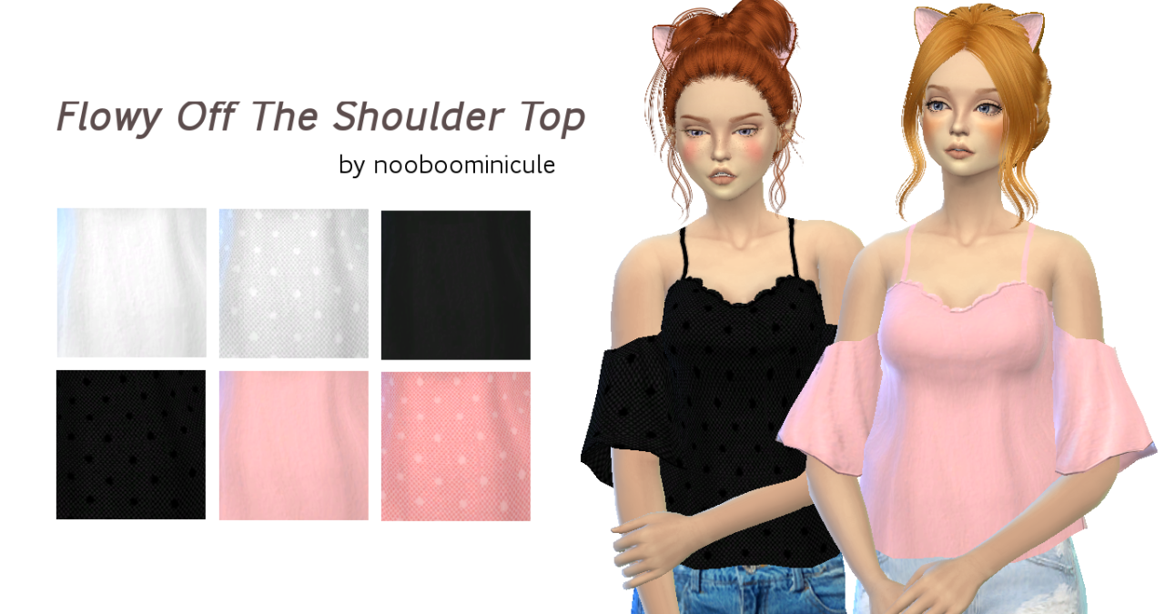 flowly off the shoulder top by nooboominicule