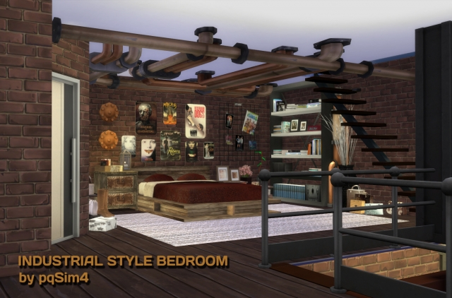 Industrial Style Bedroom by pqsim4