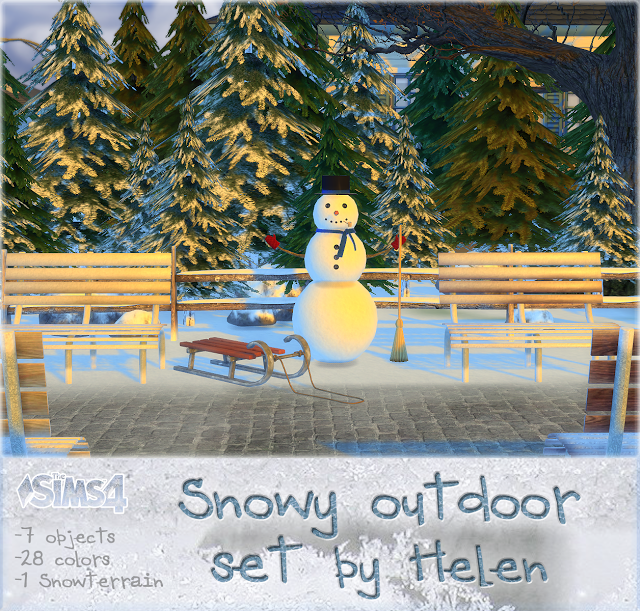 Snowy Outdoor Set by Helen