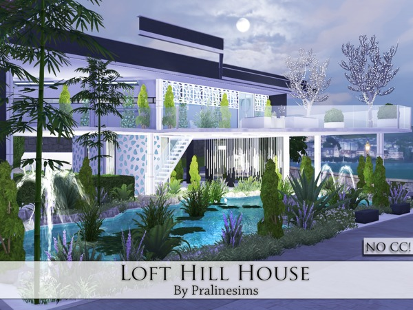 Loft Hill House by Pralinesims
