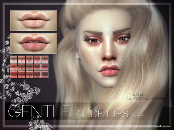 GENTLE Nude Lips  N44 by Pralinesims