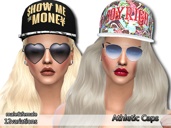 Athletic Caps Pack by Pinkzombiecupcakes