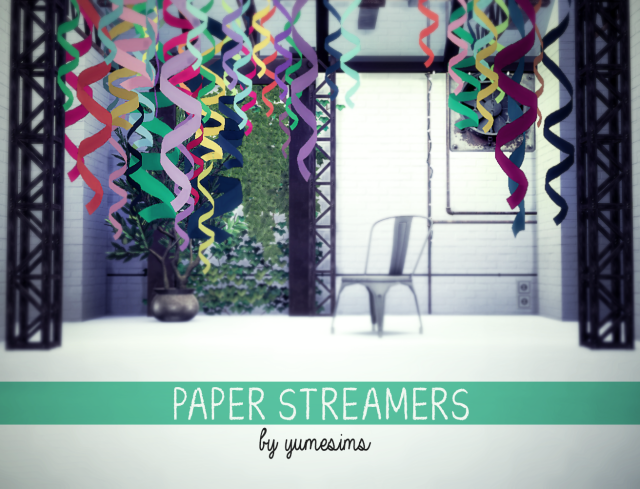 paper streamers by yumesims