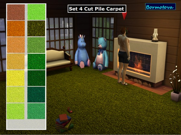 Set 4 Cut Pile Carpets by abormotova