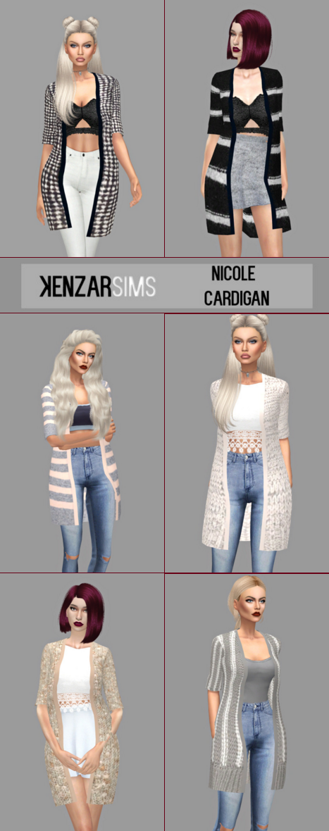 Nicole Cardigan for Females by KenzarSims