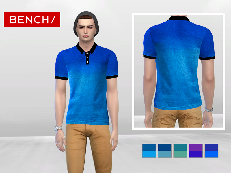 Light Ombre Polo  BY McLayneSims