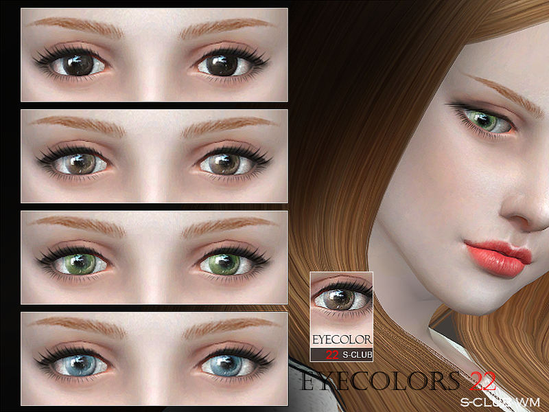 S-Club WM thesims4 Eyecolor 22