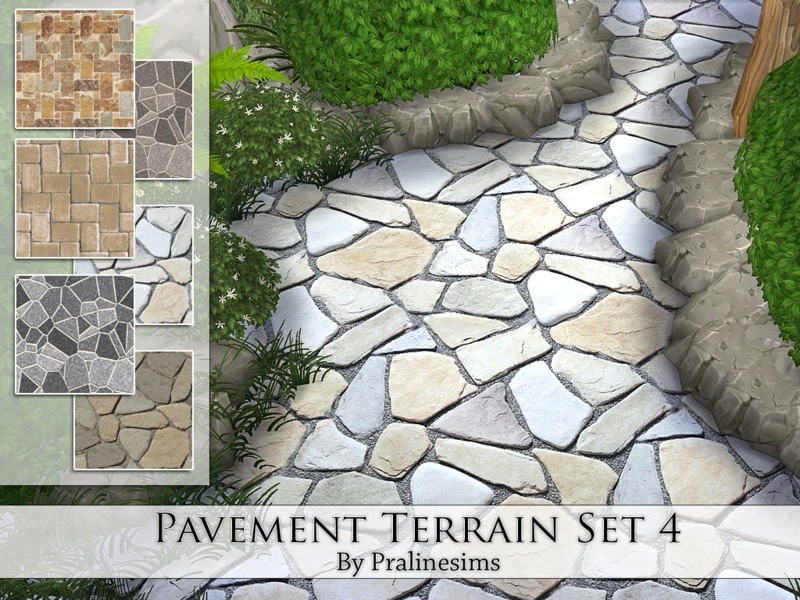 Pavement Terrain Set  4  BY Pralinesims