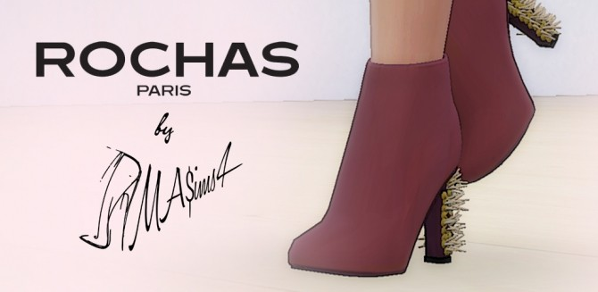 BEADED CHUNKY BOOTS By  MA$IMS3