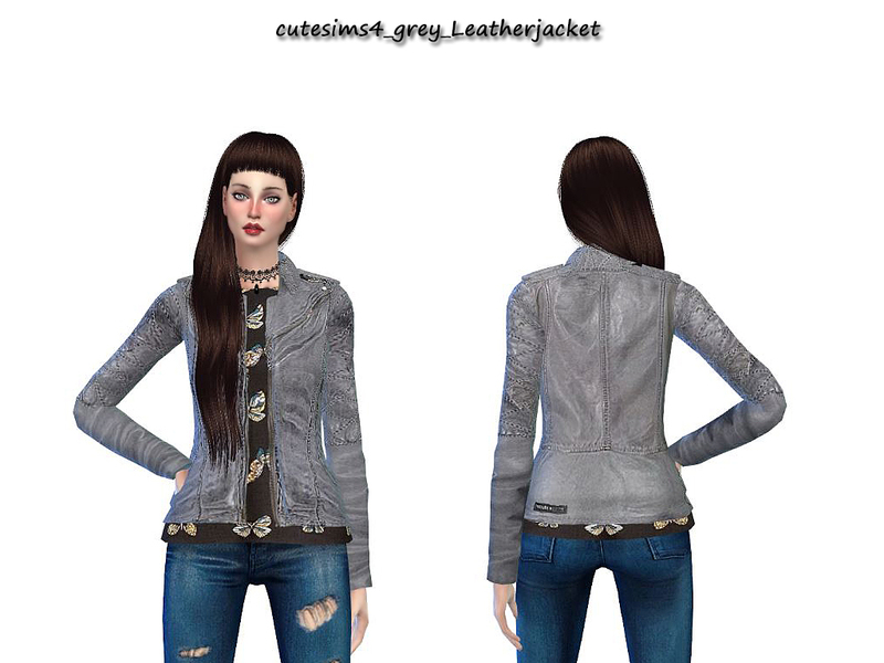 NewYear_greyLeatherjacket  BY sweetsims4