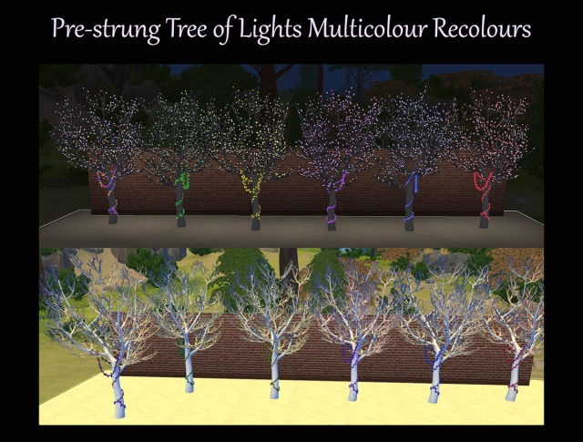 Pre-Strung Tree of Lights Multicolour Recolours by Simmiller