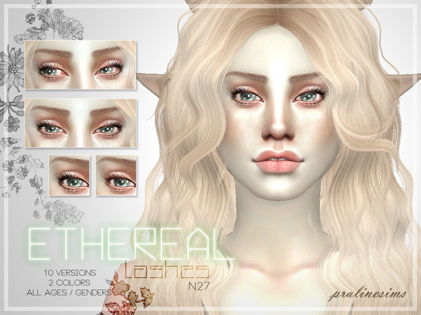 Ethereal Lashes  N27 by Pralinesims