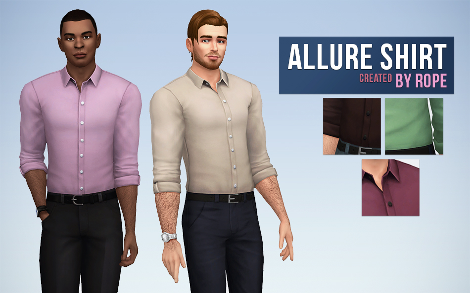 Allure Shirt in 20 Colors for Males by Rope