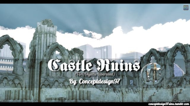 Castle Ruins Set by ConceptDesign97