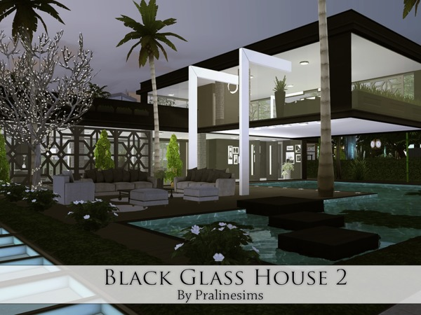 Black Glass House 2 by Pralinesims