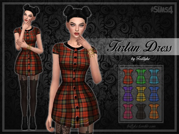 Trillyke - Tartan Dress - mesh needed