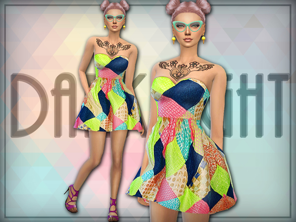 Patchwork Mini Dress by DarkNighTt