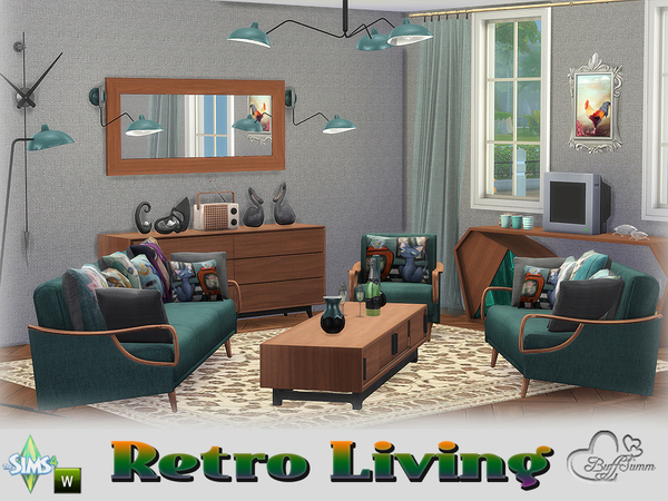 Retro Livingroom by BuffSumm