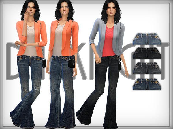 Distressed Flared Jeans by DarkNighT
