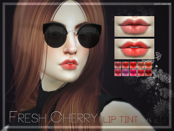 Fresh Cherry Lip Tint  N45 by Pralinesims