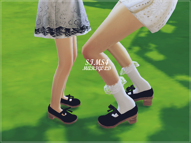 ribbon mary jane shoes by marigold