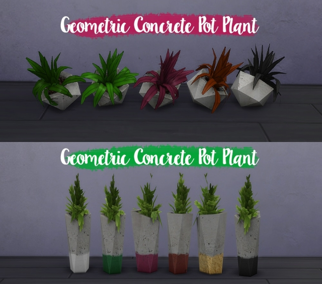 Concrete Planter Set by Dean