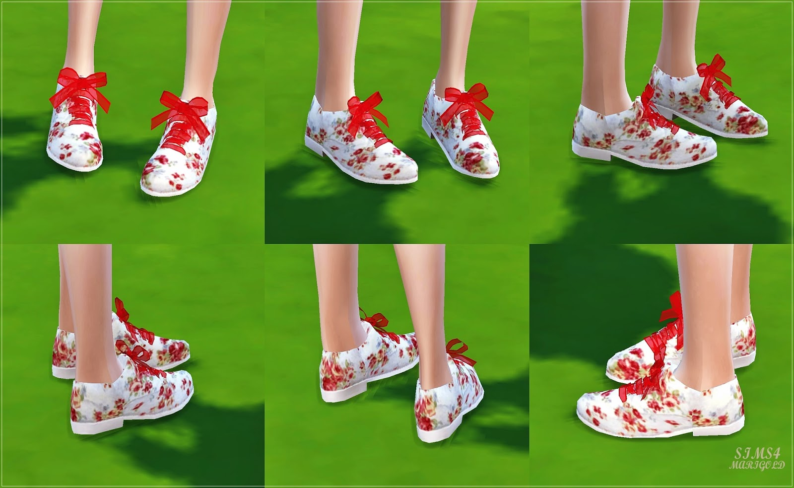 female_ribbon floral oxford by marigold