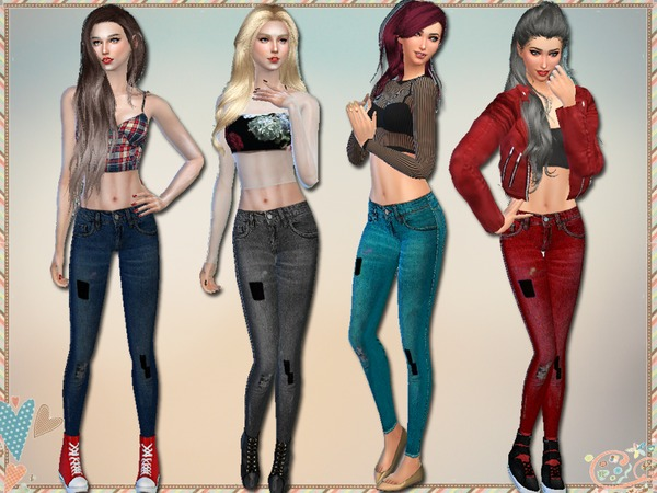 Distressed Skinny Jeans by Simlark