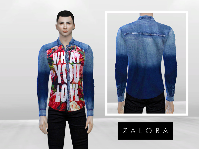 What You Love Signature Denim Shirt BY McLayneSims