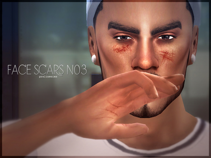 Face Scars N03 BY Pralinesims