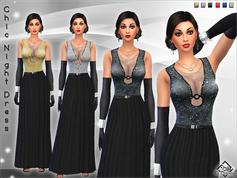 Chic Night Dress BY Devirose