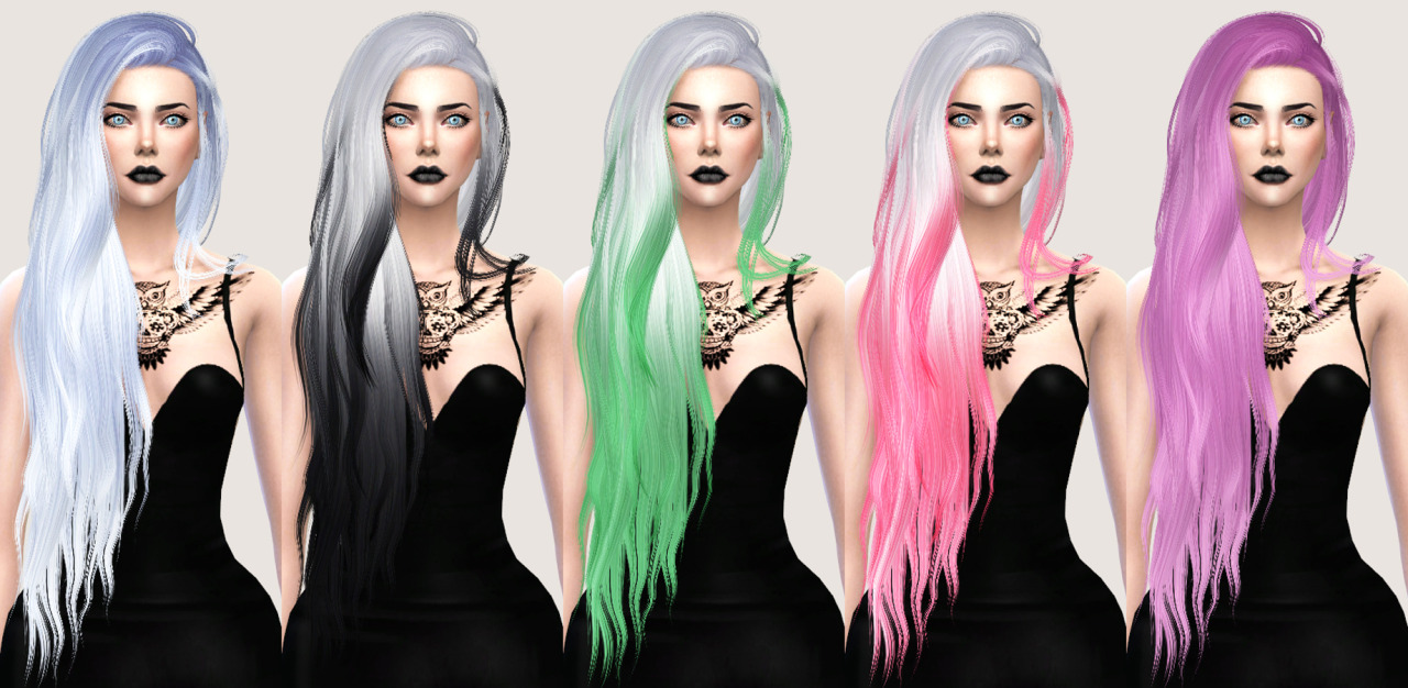 salem2342 Stealthic Aquaria Hair Retexture (TS4)