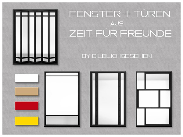 Windows and Doors in 5 Colors by Bildlichgesehen