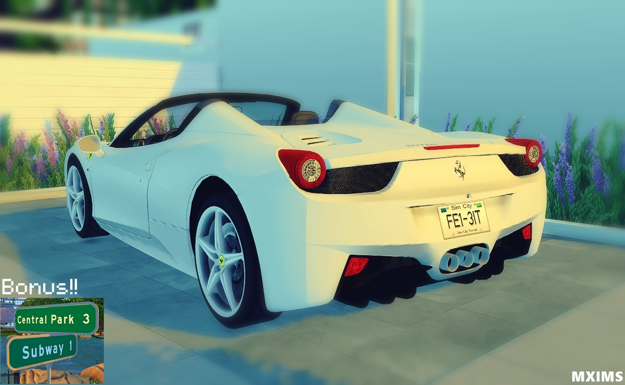 TS2 Fresh-Prince and Cassandre Ferrari 458 Spider and NYC Street Signs by Maximss
