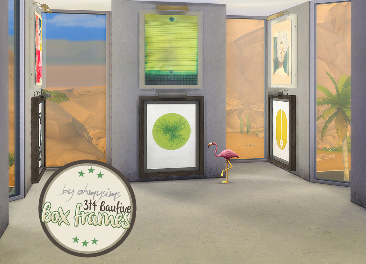 TS3 Baufive Box Frames Conversion by OhMySims