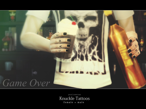 Knuckle Tattoos by Pralinesims