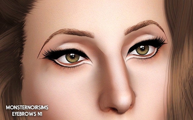 Eyebrows n1 by monsternoirsims