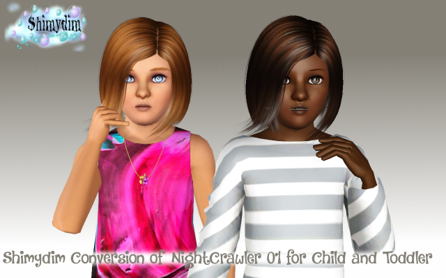NightCrawler 01 Conversion Child and Toddler by ShimydimSims