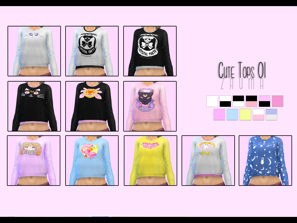 Zauma  Clothing, Female : Cute tops 01