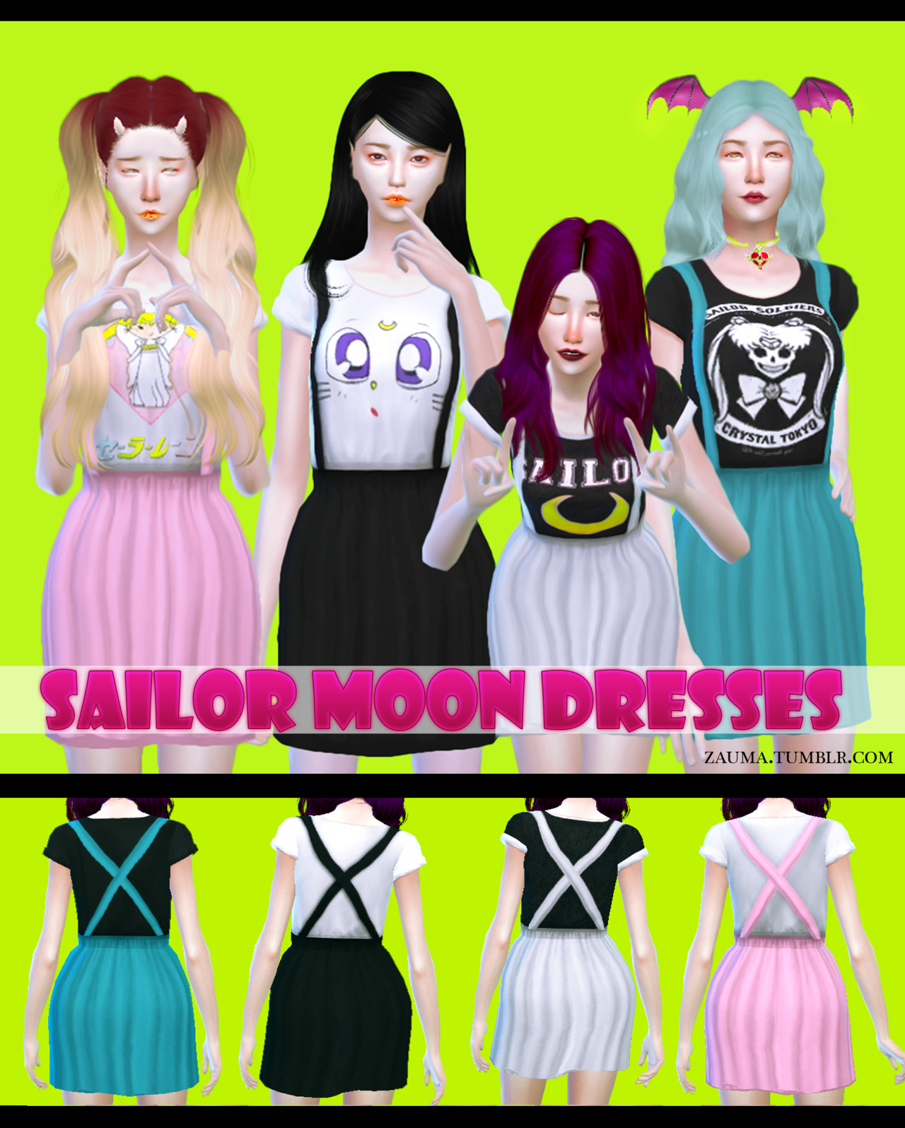 Zauma Sailor Moon Dresses