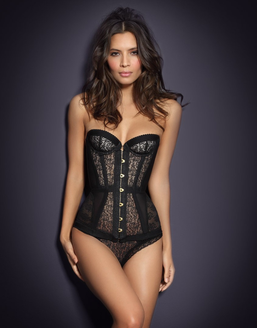 Agent Provocateur Mercy Black Corset by Anarchy-Cat