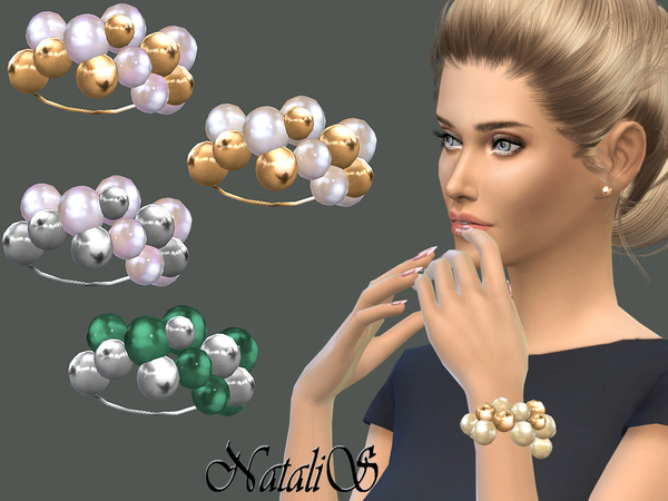 NataliS_Giant pearls and beads bracelet