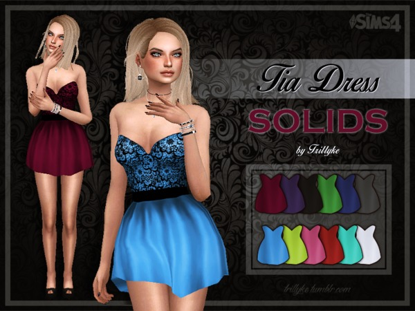 Trillyke - Tia Dress (2 versions) - mesh needed