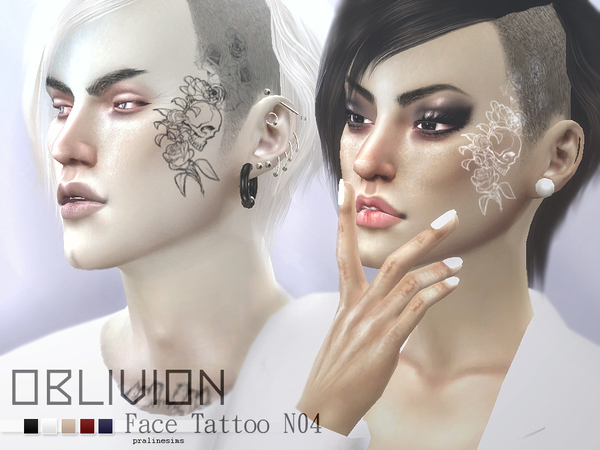 Oblivion - Face Tattoo N04 by Pralinesims